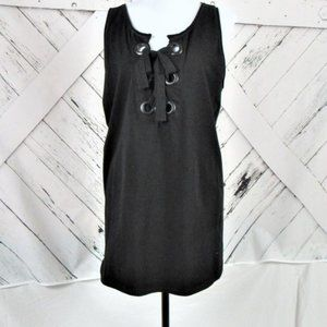 Lane Bryant Lace up front top